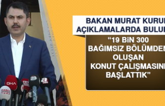 Bakan Murat Kurum Elazığ'da Açıklamalarda Bulundu