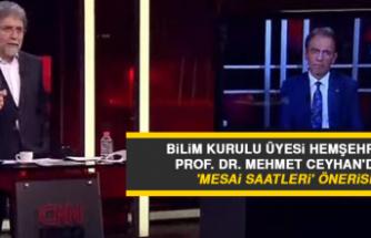 Bilim Kurulu Üyesi Hemşehrimiz Prof. Dr. Mehmet Ceyhan'dan 'Mesai Saatleri' Önerisi