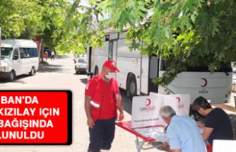 Keban'da, Türk Kızılay İçin Kan Bağışında Bulunuldu