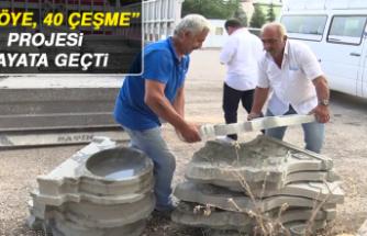 """""""40 Köye, 40 Çeşme"""" Projesi Hayata Geçti"""