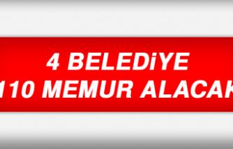 4 Belediye 110 Memur Alacak