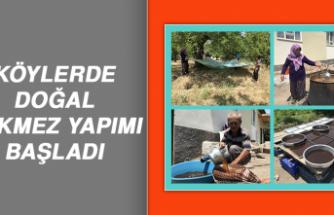 Elazığ'da Köylerde Doğal Pekmez Yapımı Başladı