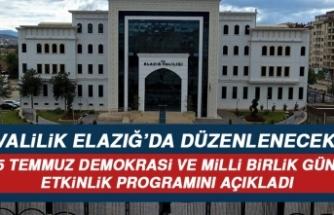 Elazığ'daki Etkinliklerin Programı Açıklandı