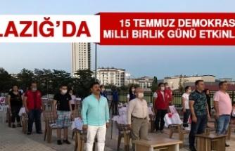 Elazığ'da 15 Temmuz Demokrasi Ve Milli Birlik Günü Etkinlikleri