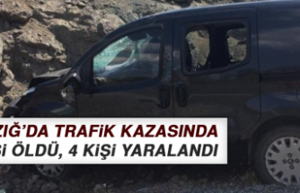 Elazığ'da Trafik Kazasında 1 Kişi Öldü, 4 Kişi Yaralandı