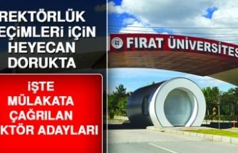 Fırat Üniversitesi Rektörlüğü İçin Kimlerle Mülakat Yapılacak?