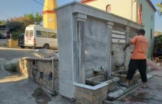 Milli Mücadeleye katkılarından dolayı Celal Bayar tarafından hediye edilen çeşme restore edildi