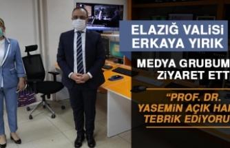 Vali Erkaya Yırık'tan Kanal Fırat Medya Grubuna Ziyaret
