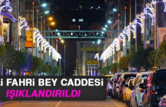Vali Fahri Bey Caddesi Işıklandırıldı