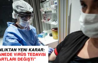 Bakanlıktan yeni karar: Hastanede virüs tedavisi şartları değişti