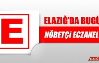 Elazığ'da 12 Ağustos'ta Nöbetçi Eczaneler