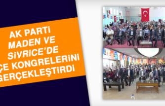 AK Parti Maden ve Sivrice'de İlçe Kongrelerini Gerçekleştirdi