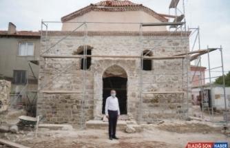 Ayvalık'ta Tarihi Kadı Camii restorasyon çalışmalarında sona yaklaşıldı