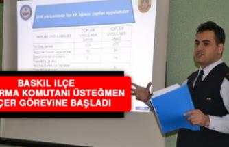 Baskil İlçe Jandarma Komutanı Üsteğmen Dinçer Görevine Başladı