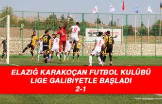 Elazığ Karakoçan Futbol Kulübü, Lige Galibiyetle Başladı