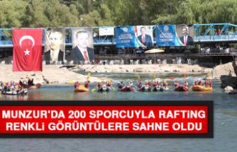 Munzur'da 200 Sporcuyla Rafting, Renkli Görüntülere Sahne Oldu
