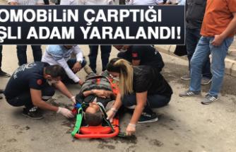 Otomobilin Çarptığı, Yaşlı Adam Yaralandı!
