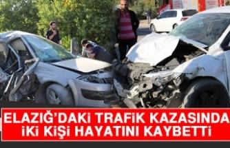 Elazığ'daki Trafik Kazasında İki Kişi Hayatını Kaybetti