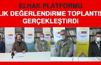 ELHAK Platformu, Aylık Değerlendirme Toplantısını Gerçekleştirdi