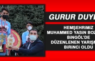 Hemşehrimiz Bozdemir, Bingöl'de Düzenlenen Yarışmada Birinci Oldu