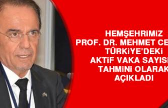 Hemşehrimiz Prof. Dr. Ceyhan, Aktif Vaka Sayısı İle Alakalı Açıklama Yaptı