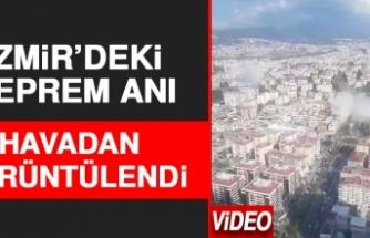 İzmir'deki Depremde Binaların Çökme Anı Görüntülendi
