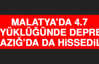 Malatya'da 4.9 Büyüklüğünde Deprem Meydana Geldi! Elazığ'da Da Hissedildi