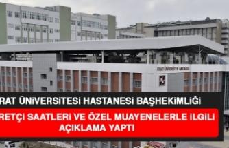 Fırat Üniversitesi Hastanesi'nde Tedbirler Artırıldı