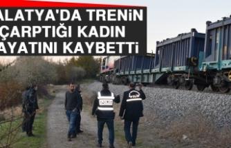 Malatya'da Trenin Çarptığı Kadın Hayatını Kaybetti