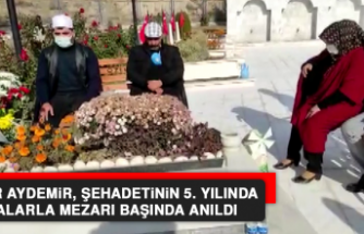 Sezer Aydemir, Şehadetinin 5. Yılında Dualarla Mezarı Başında Anıldı