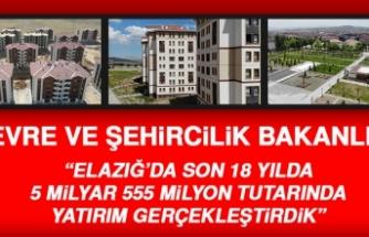 Çevre ve Şehircilik Bakanlığı Elazığ'da Yapılan Yatırımları Açıkladı