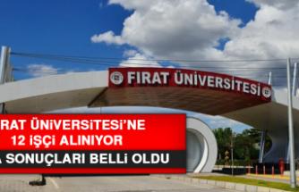 Fırat Üniversitesi'ne 12 işçi alınıyor! Kura sonuçları belli oldu...