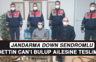 Jandarma, Down Sendromlu Saadettin Can'ı Bulup Ailesine Teslim Etti