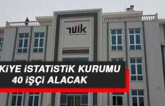 Türkiye İstatistik Kurumu 40 İşçi Alacak