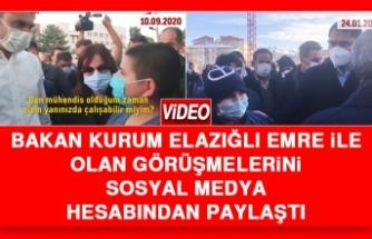 Bakan Kurum Elazığlı Emre İle Olan Görüşmelerini Sosyal Medya Hesabından Paylaştı