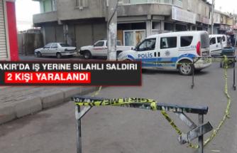 Diyarbakır'da İş Yerine Silahlı Saldırı, 2 Kişi Yaralandı
