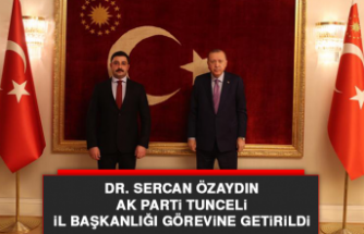 Dr. Sercan Özaydın, AK Parti Tunceli İl Başkanlığı Görevine Getirildi