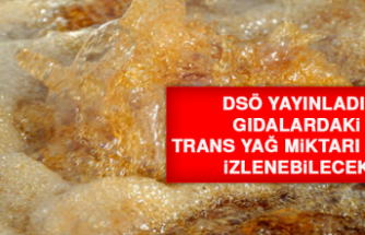 DSÖ yayınladı! Gıdalardaki trans yağ miktarı artık izlenebilecek