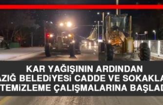Elazığ Belediyesi Cadde ve Sokaklarda Temizleme Çalışmalarına Başladı