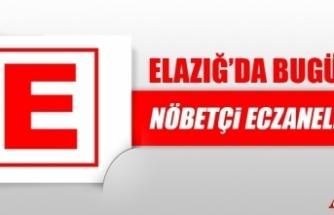 Elazığ'da 18 Ocak'ta Nöbetçi Eczaneler