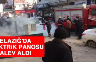 Elazığ'da Elektrik Panosu Alev Aldı!
