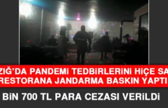 Elazığ'da Pandemi Tedbirlerini Hiçe Sayan Restorana Jandarma Baskın Yaptı