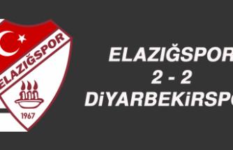 Elazığspor 2 - 2 Diyarbekirspor