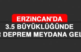 Erzincan'dan 3.5 Büyüklüğünde Bir Deprem Meydana Geldi.