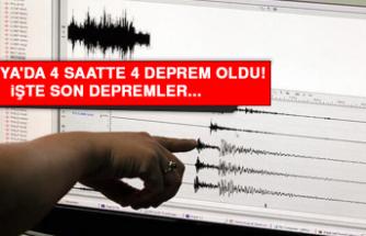 Malatya'da 4 saatte 4 deprem oldu! İşte son depremler...
