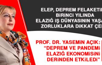 """Prof. Dr. Yasemin Açık: """"Deprem ve pandemi Elazığ ekonomisini derinden etkiledi"""""""