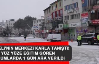 Tunceli'nin Merkezi Karla Tanıştı, Yüz Yüze Eğitim Gören Kurumlarda 1 Gün Ara Verildi!