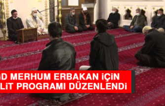 AGD Merhum Erbakan İçin Mevlit Programı Düzenlendi