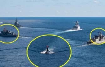 Bayraklara Dikkat! Türk ve Yunan Savaş Gemileri Aynı Anda...
