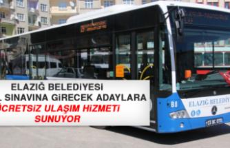 Elazığ Belediyesi YÖKDİL Sınavına Girecek Adaylara Ücretsiz Ulaşım Hizmeti Sunuyor